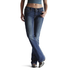 AT Lds Turquoise Stretch Jeans-Caliente Best Price