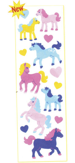 AWST Puffy Fuzzy Horse Stickers