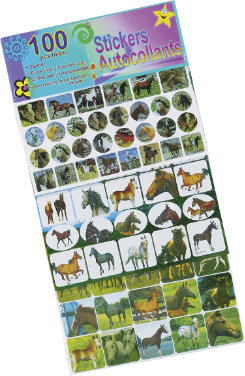 AWST 100 Piece Horse Sticker Set