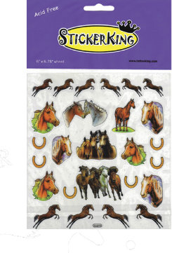 AWST Horses and Horseshoe Stickers