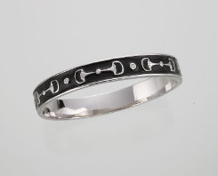 AWST Enamel Snaffle Bit Bangle Bracelet Best Price