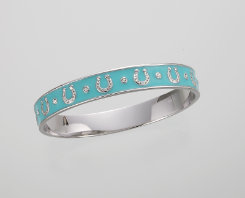 AWST Enamel Horseshoe Bangle Bracelet