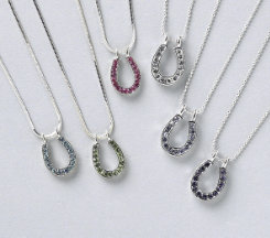 AWST Horseshoe Rhinestone Necklace