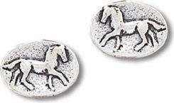 AWST Small Oval Post Horse Earrings Best Price
