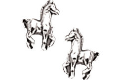 AWST Sterling Silver Mini Foal Post Earrings