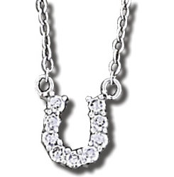 AWST Sterling Silver Small Horshoe Necklace Best Price