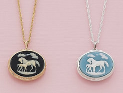 AWST Mare and Foal Cameo Necklace Best Price