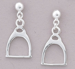 AWST Sterling Silver English Stirrup Earrings