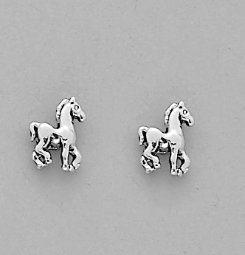 AWST Prancing Pony Earrings with Gift Box