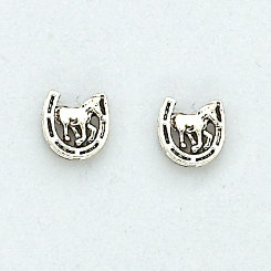 AWST Lucky Horse Head Earrings with Gift Box Best Price