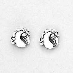AWST Fancy Horse Head Earrings w/Gift Box