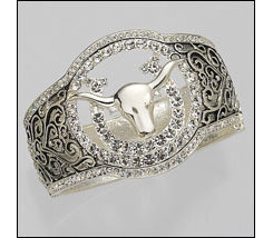 AWST Pave Crystal Longhorn and Horseshoe Bangle Best Price