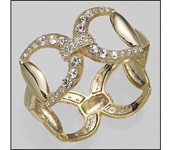 AWST Pave Crystal Snaffle Bit Bangle Best Price
