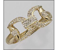 AWST Pave Crystal Snaffle Bit Bracelet Best Price