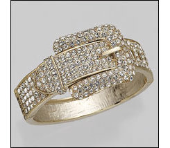 AWST Pave Crsytal Belt Buckle Bangle Bracelet Best Price