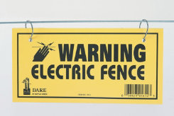 Dare Products Electric Fence Warning Sign Best Price