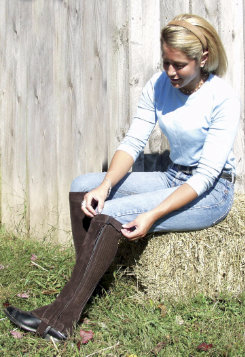 Barnstable Semi Custom Ribbed Suede Half Chaps Best Price