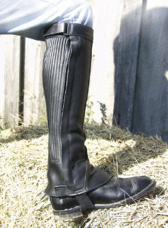 Barnstable Semi Custom Ribbed Top Grain Leather Half Chaps Best Price