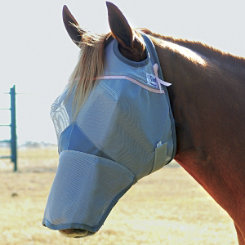 Cashel Crusader Fly Mask with Long Nose Pink Trim Best Price