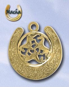 Macha Celtic Triple Horse Horseshoe Ornament Best Price