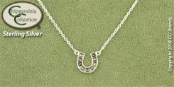 Chippendale Sterling Silver Horseshoe Pendant with Marcasite Best Price