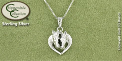 Chippendale Sterling Silver Horse Heart Pendant Best Price