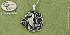 Chippendale Sterling Silver Celtic Knot with Horse Pendant Best Price