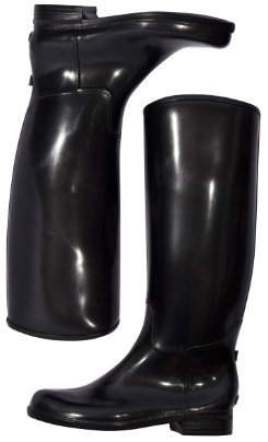 dav Ladies Black  English Boots <font color=#000080> Color:  Black  Size:  5</font> Best Price