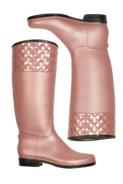 dav Ladies Blush Pearl Quilted English Rain Boot Best Price