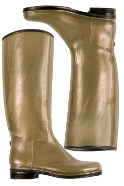 dav Ladies Bronze Pearl English Pearl Rain Boots Best Price