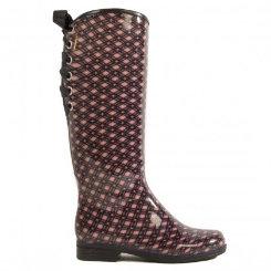 dav Ladies Blush Plaid Victoria Rain Boots Best Price