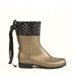 dav Ladies Bronze Pearl Mid Pyramid Rain Boot Best Price