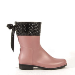 dav Ladies Blush Pearl Mid Pyramid Rain Boots Best Price