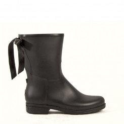 dav Ladies Black Mid Victoria Rain Boots Best Price