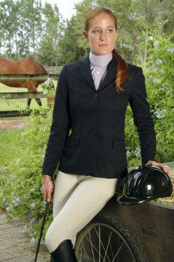 Devon-Aire Ladies Concour Equi-Fit Show Jacket<font color=#000080>  - SIZE:  12 Regular  COLOR:  Charcoal</font> Best Price