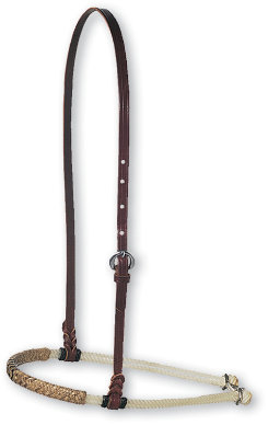 Martin Saddlery Rope Noseband with Rawhide Cover