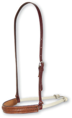 Martin Saddlery Rope Noseband w/ Tooled Leather Cover Best Price