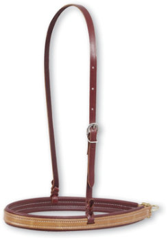 Martin Saddlery Leather with Latigo Leather Lining Noseband