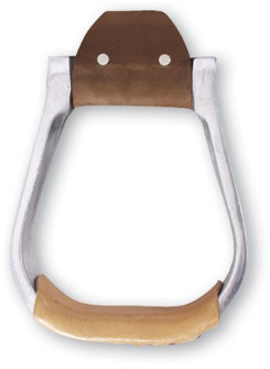 Martin Saddlery Aluminum Stirrup with Leather Tread