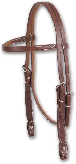 Martin Saddlery Stitched Plain Headstall