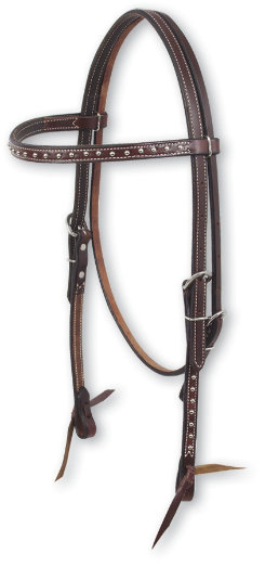 Martin Saddlery Chocolate Headstall with Dots Best Price