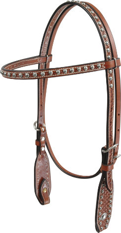Martin Saddlery Basket Stamp with Dots Browband Headstall Best Price