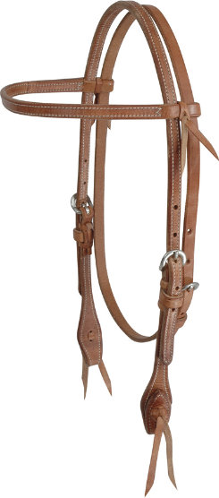 "Martin Saddlery 1/2"" Stitch Harness Leather Browband Headstall"