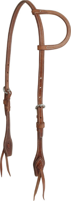 "Martin Saddlery 1/2"" Harness Leather Slip Ear Headstall"