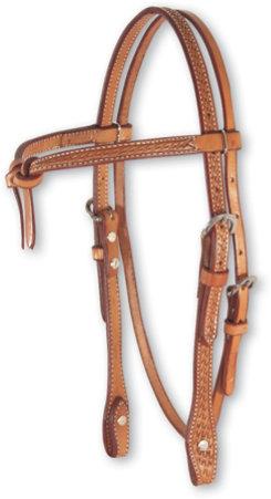 Martin Saddler Tooled Basket Tie Front Headstall Best Price