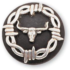 Martin Saddlery Barbwire Steer Concho