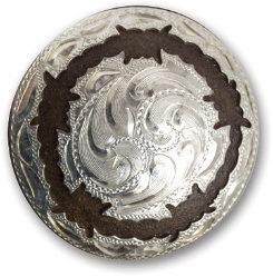 Martin Saddlery Silver Barbwire Concho Best Price