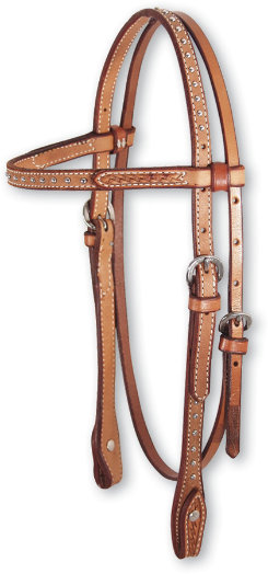 Martin Saddlery Basket Stamp Headstall with Dots Best Price