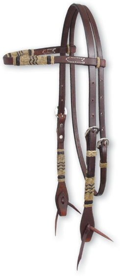 Martin Saddlery Chocolate Rawhide Braid Browband Headstall Best Price