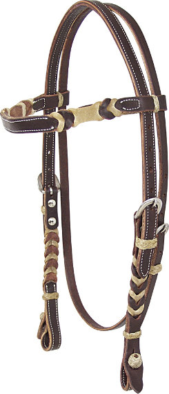 Martin Saddlery Chocolate Rawhide Browband Headstall Best Price
